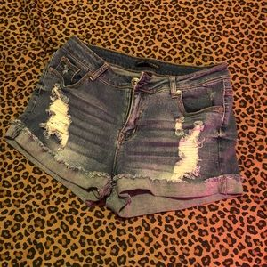 Pants - Destroyed Jean shorts